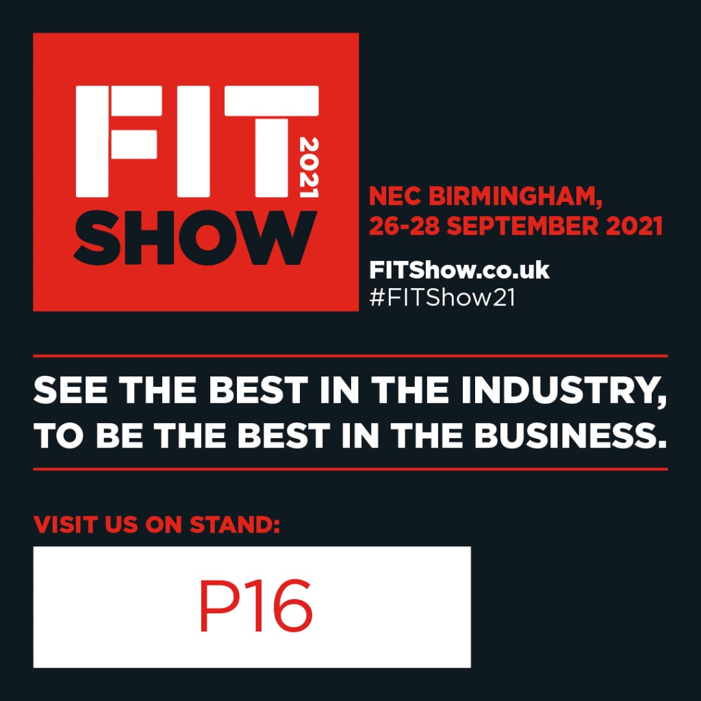 FITShow logo and image showin gthe Pure Vista stand number as P16. This displays the stand location to clients and customers